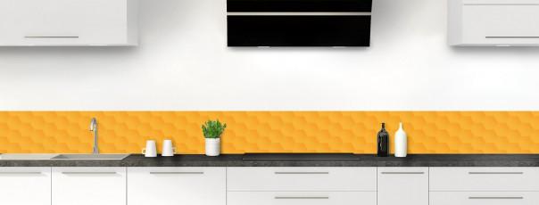 Crédence de cuisine Nid d'abeilles couleur abricot dosseret