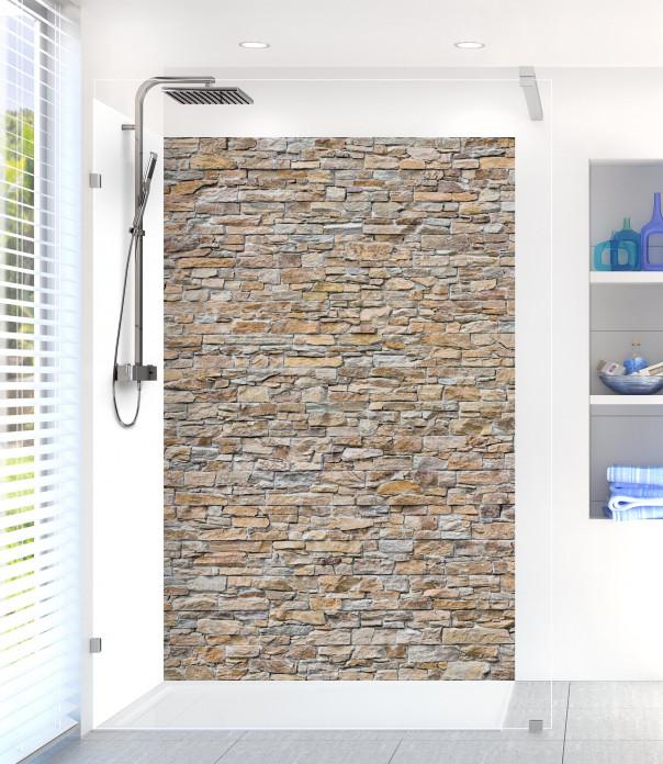 Panneau de douche Briques de roche beige