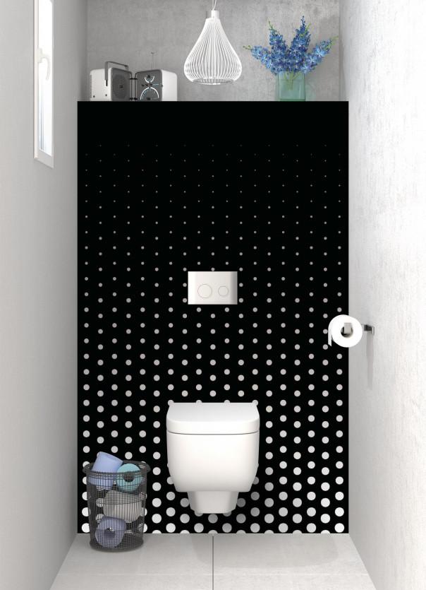 Panneau WC Pluie de points couleur blanc