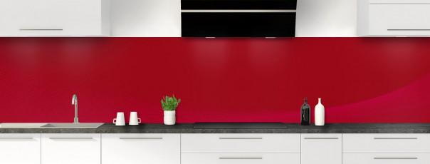 Crédence de cuisine Ombre et lumière couleur rouge carmin panoramique motif inversé