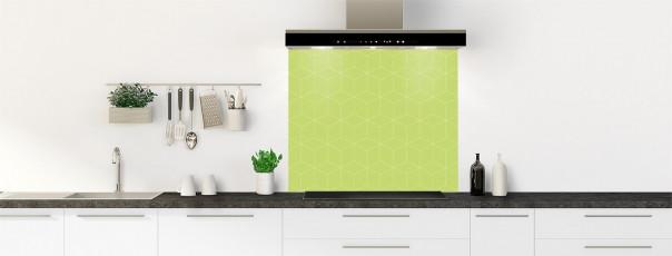 Crédence de cuisine Cubes en relief couleur vert olive fond de hotte