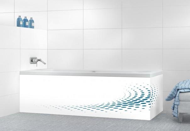 Panneau tablier de bain Nuage de points couleur bleu baltic