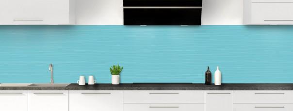 Crédence de cuisine Lignes horizontales couleur bleu lagon panoramique