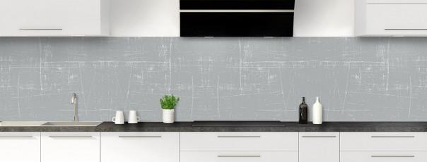 Crédence de cuisine Ardoise rayée couleur gris métal panoramique
