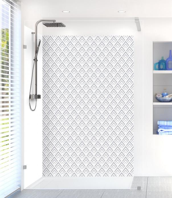 Panneau de douche Ecailles  couleur gris métal