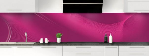 Crédence de cuisine Volute couleur prune panoramique motif inversé