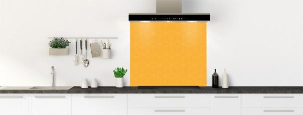 Crédence de cuisine Cubes en relief couleur abricot fond de hotte