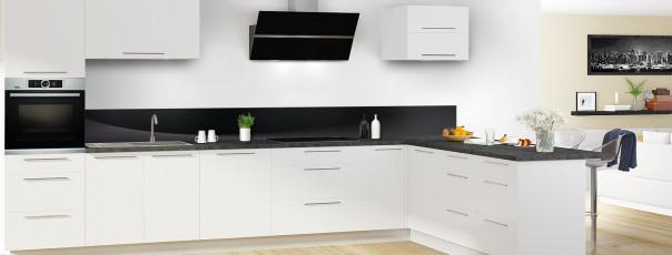 Crédence de cuisine Ombre et lumière couleur noir dosseret en perspective