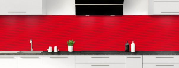 Crédence de cuisine Ondes couleur rouge vif panoramique