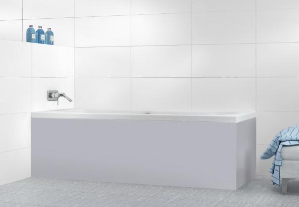 Panneau tablier de bain Gris Métal