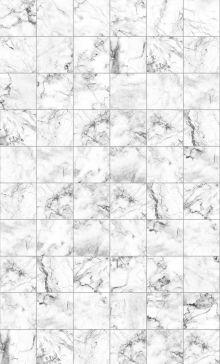 Crédence Carreaux marbre blanc