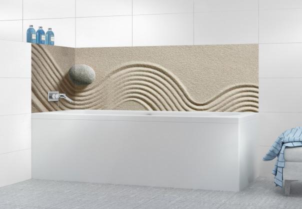 Panneau de bain Jardin japonais galet