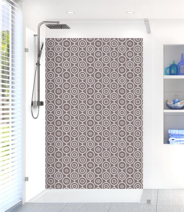 Panneau de douche Papier peint rétro couleur taupe