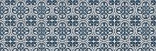 Crédence Carreaux de ciment Nymphéas Bleu