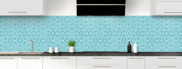 Crédence de cuisine Papier peint rétro couleur bleu lagon panoramique