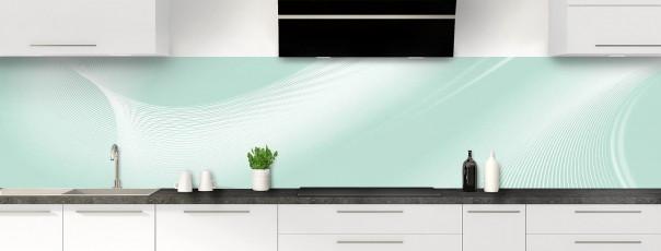 Crédence de cuisine Volute couleur vert pastel panoramique