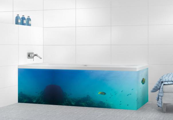 Panneau tablier de bain Entre ciel et mer motif inversé