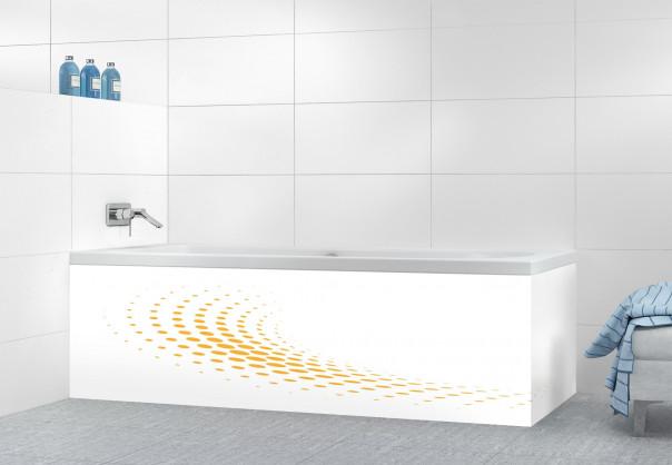 Panneau tablier de bain Nuage de points couleur abricot motif inversé