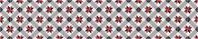 Crédence Carreaux de ciment vintage rouge
