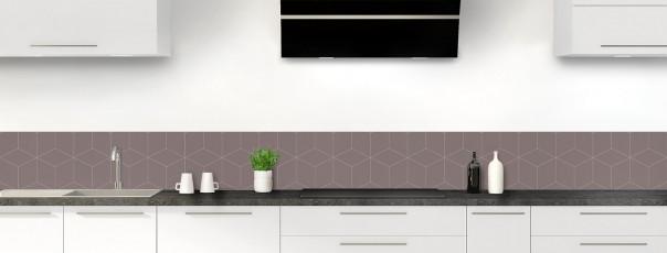 Crédence de cuisine Cubes en relief couleur taupe dosseret