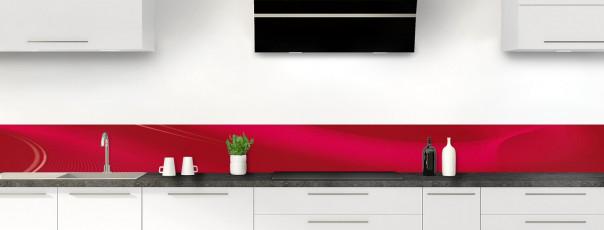 Crédence de cuisine Volute couleur rouge carmin dosseret motif inversé