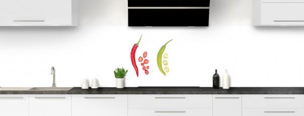Crédence de cuisine Duo de piments panoramique