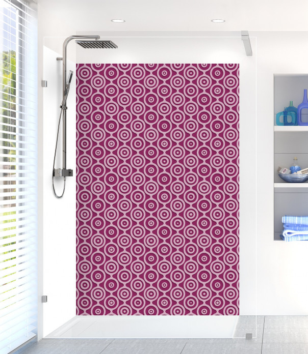 Panneau de douche Papier peint rétro couleur prune