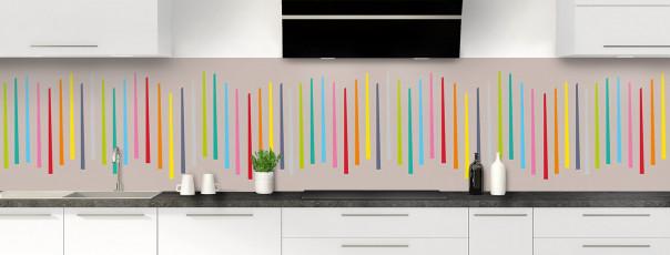 Crédence de cuisine Barres colorées couleur argile panoramique