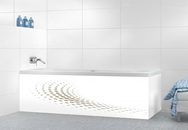 Panneau tablier de bain Nuage de points couleur marron glacé motif inversé