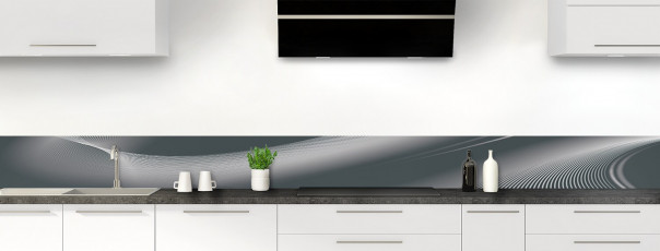 Crédence de cuisine Volute couleur gris carbone dosseret