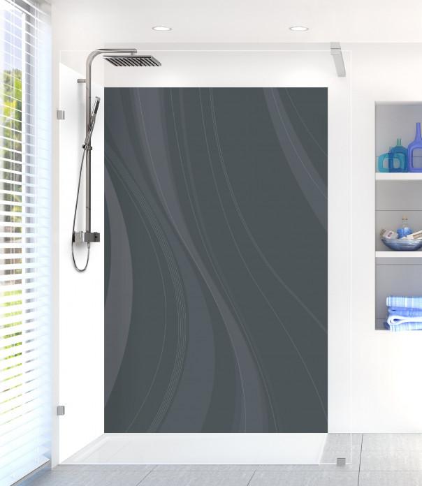 Panneau de douche Voilage couleur gris carbone