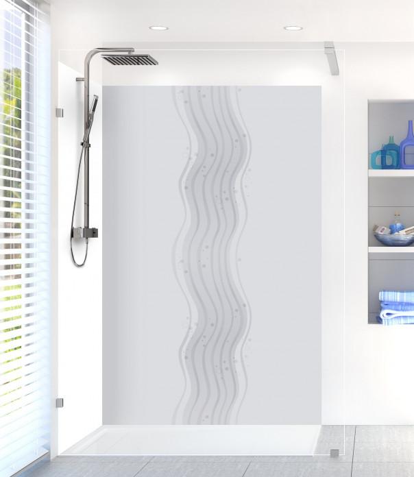 Panneau de douche Vagues design couleur gris clair