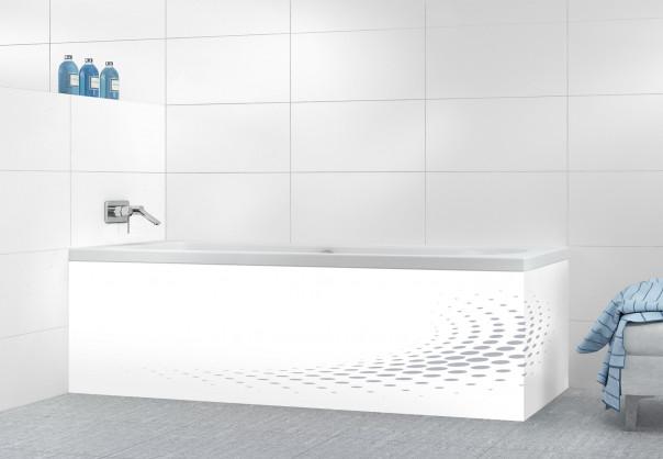 Panneau tablier de bain Nuage de points couleur gris métal