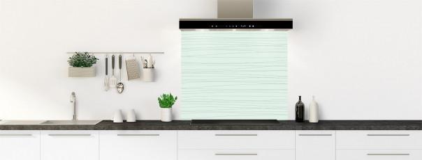 Crédence de cuisine Lignes horizontales couleur vert eau fond de hotte