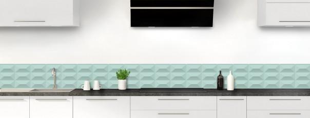 Crédence de cuisine Briques en relief couleur vert pastel dosseret