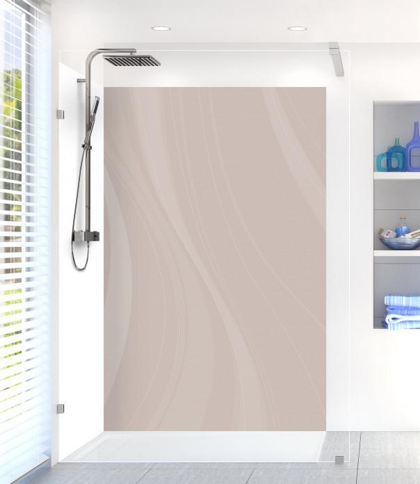 Panneau de douche Voilage couleur argile
