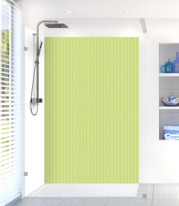 Panneau de douche Origami  couleur vert olive