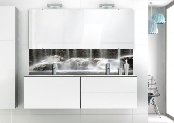 Panneau vasque Chutes d'eau N&B