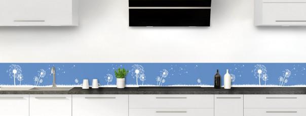 Crédence de cuisine Pissenlit au vent couleur bleu lavande dosseret