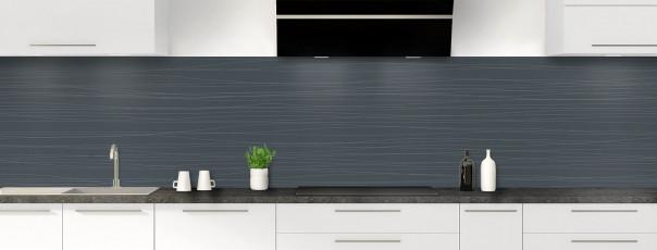 Crédence de cuisine Lignes horizontales couleur gris carbone panoramique