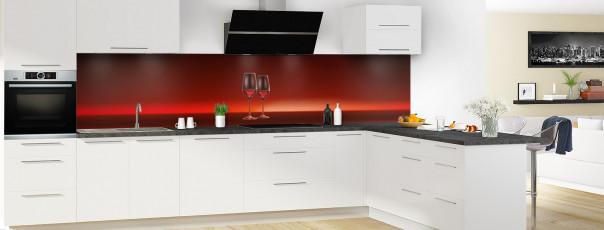 Crédence de cuisine Verres de vin panoramique motif inversé en perspective