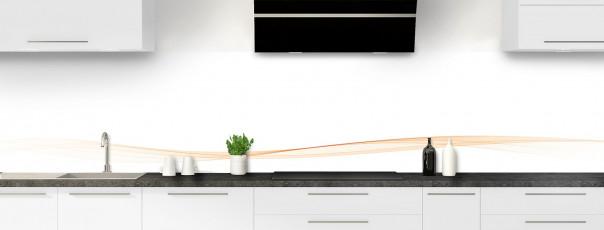 Crédence de cuisine Vague graphique couleur sable dosseret motif inversé