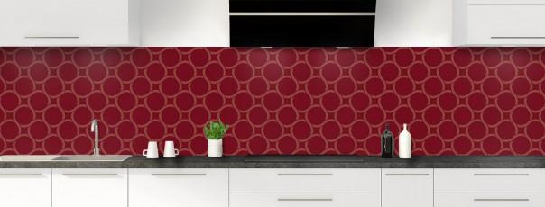 Crédence de cuisine Mosaïque cercles couleur rouge pourpre panoramique