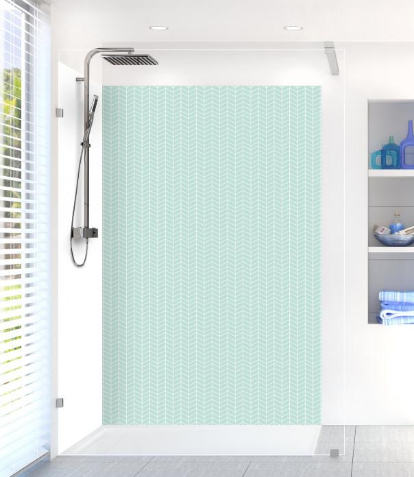 Panneau de douche Origami  couleur vert pastel