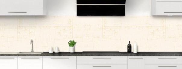 Crédence de cuisine Ardoise rayée couleur magnolia panoramique