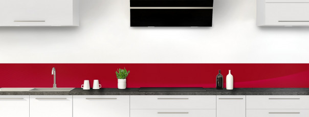 Crédence de cuisine Ombre et lumière couleur rouge carmin dosseret motif inversé