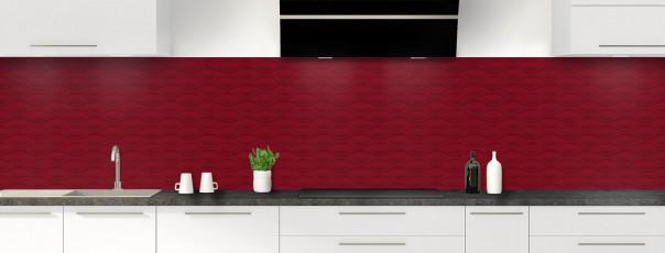 Crédence de cuisine Motif vagues couleur rouge pourpre panoramique
