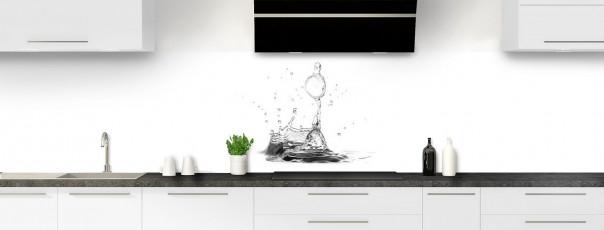 Crédence de cuisine Bulle  d'eau panoramique