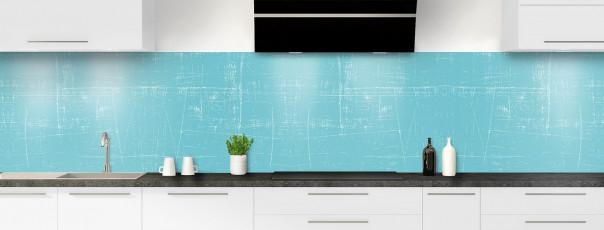 Crédence de cuisine Ardoise rayée couleur bleu lagon panoramique