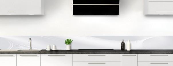 Crédence de cuisine Volute couleur gris clair dosseret motif inversé